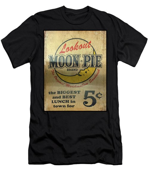 Men's T-Shirt (Athletic Fit) featuring the photograph Moon Pie Antique Sign by Chris Flees