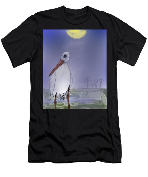 Moon Rise Becomes A Stork Men's T-Shirt (Athletic Fit)