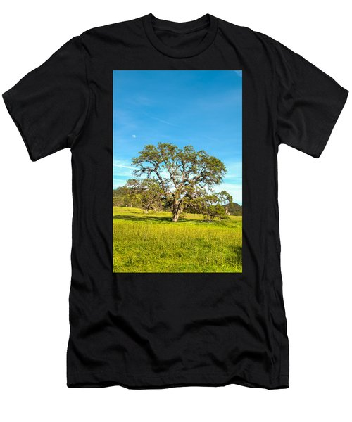 Moon Rising Meadow With Wild Flowers Men's T-Shirt (Athletic Fit)
