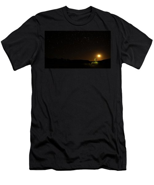 Moon Set Over Palm Valley Men's T-Shirt (Athletic Fit)