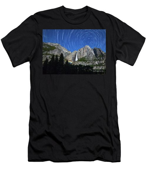 Moonbow And Startrails  Men's T-Shirt (Athletic Fit)