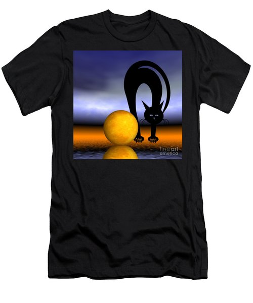 Mooncat's Play With The Fullmoon Men's T-Shirt (Athletic Fit)
