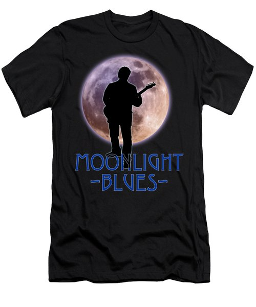 Moonlight Blues Shirt Men's T-Shirt (Slim Fit) by WB Johnston