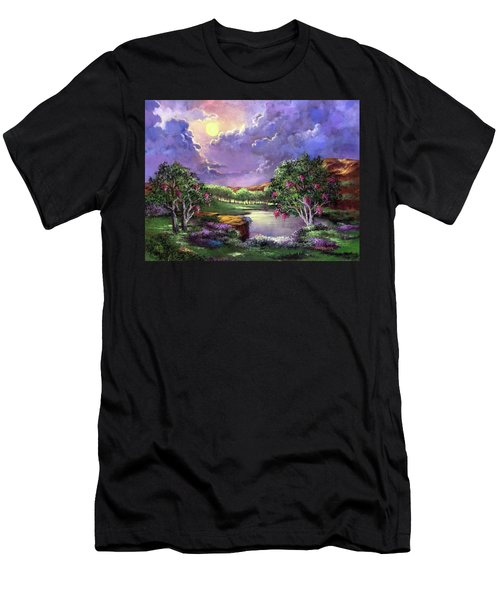 Moonlight In The Woods Men's T-Shirt (Athletic Fit)
