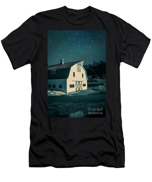 Men's T-Shirt (Athletic Fit) featuring the photograph Moonlight In Vermont by Edward Fielding