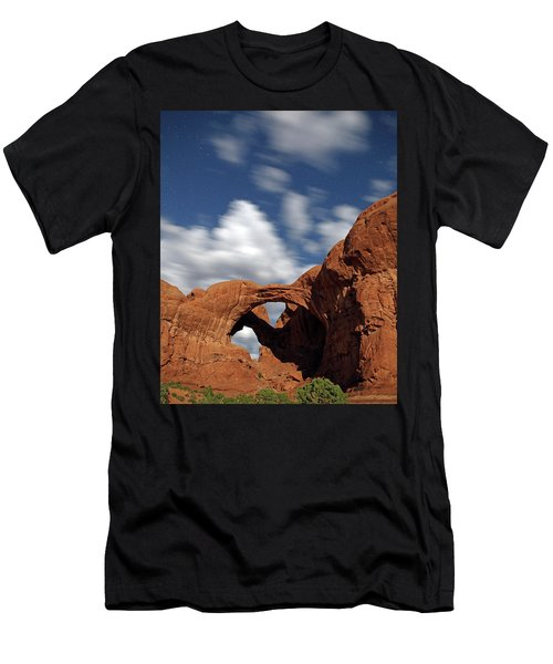 Moonlight On Double Arch In Arches Np Men's T-Shirt (Athletic Fit)