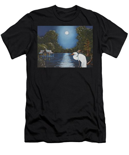 Moonlight On The Bayou Men's T-Shirt (Athletic Fit)