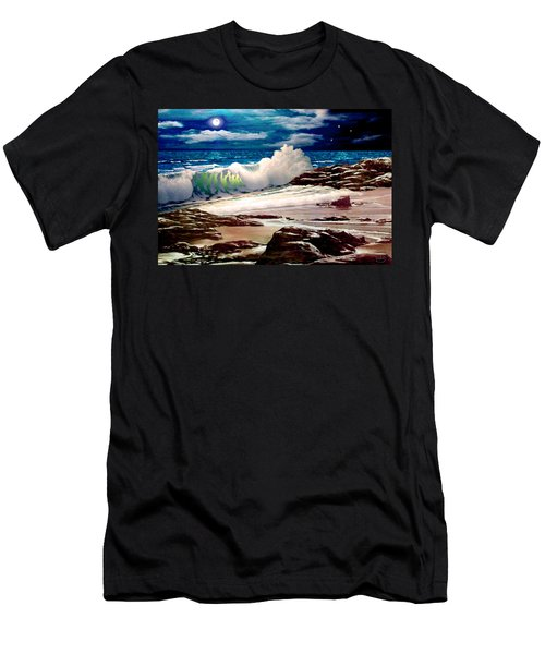 Moonlight On The Beach Men's T-Shirt (Athletic Fit)