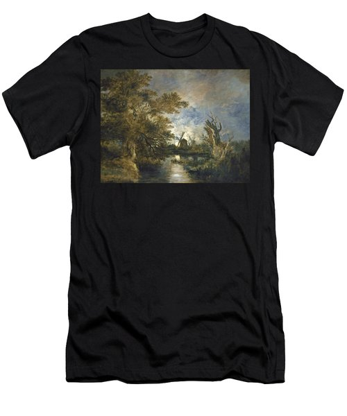 Moonlight On The Yare Men's T-Shirt (Athletic Fit)
