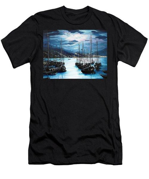 Moonlight Over Port Of Spain Men's T-Shirt (Athletic Fit)