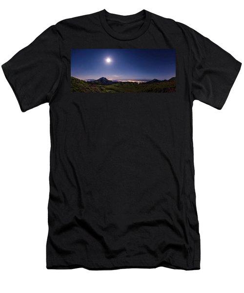 Moonlight Panorama Men's T-Shirt (Athletic Fit)