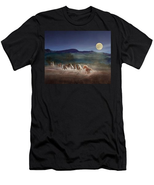 Moonlight Run Men's T-Shirt (Slim Fit) by Melinda Hughes-Berland
