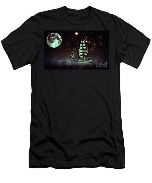 Moonlight Sailing Men's T-Shirt (Athletic Fit)