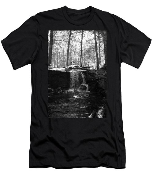 Moonlight Waterfall Men's T-Shirt (Athletic Fit)