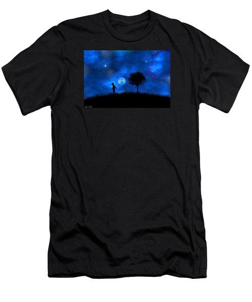 Men's T-Shirt (Slim Fit) featuring the digital art Moonlight Shadow by Bernd Hau