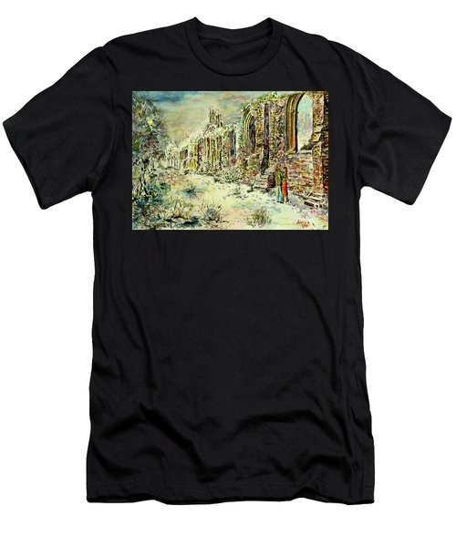 Moonlit Footsteps On Holy Ground Men's T-Shirt (Athletic Fit)