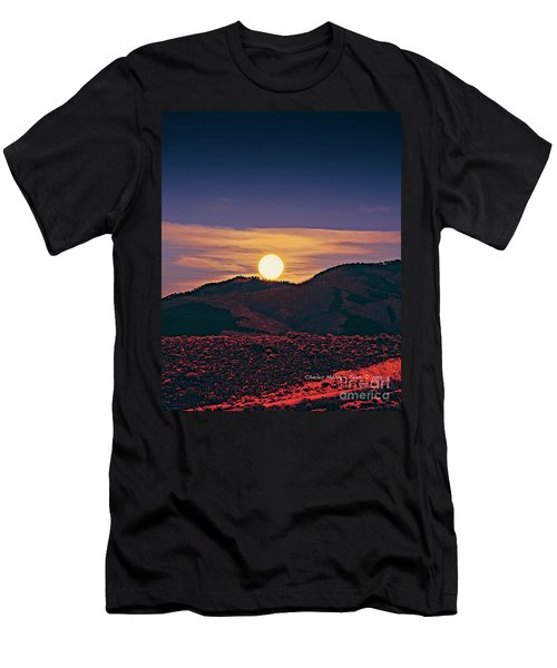 Moonrise In Northern New Mexico  Men's T-Shirt (Athletic Fit)