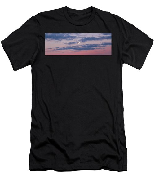 Moonrise In Pink Sky Men's T-Shirt (Athletic Fit)