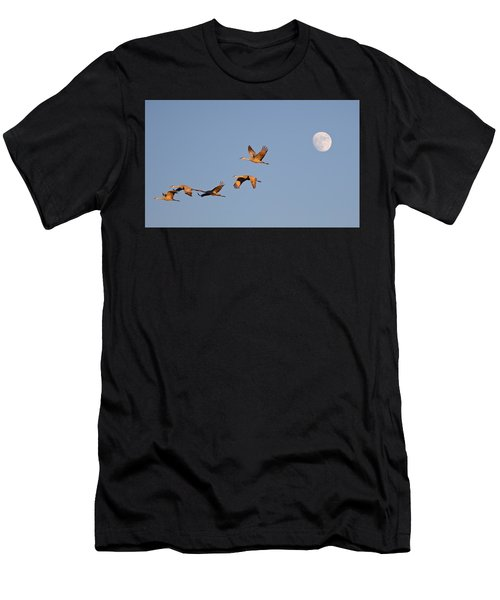 Moonrise Over Bosque Men's T-Shirt (Athletic Fit)
