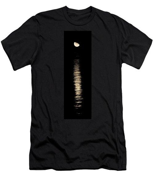 Moonrise Over Monroe Harbor Chicago 0158 Men's T-Shirt (Slim Fit) by Michael Bessler