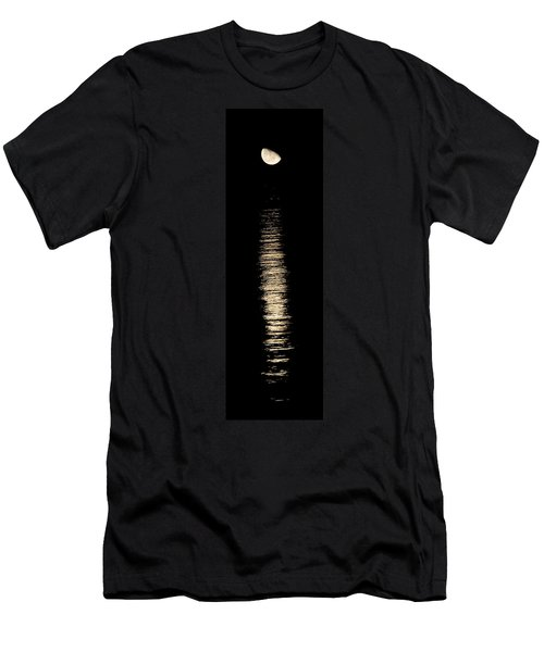 Moonrise Over Monroe Harbor Chicago 0158 Men's T-Shirt (Athletic Fit)