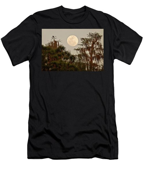 Moonrise Over Southern Pines Men's T-Shirt (Athletic Fit)