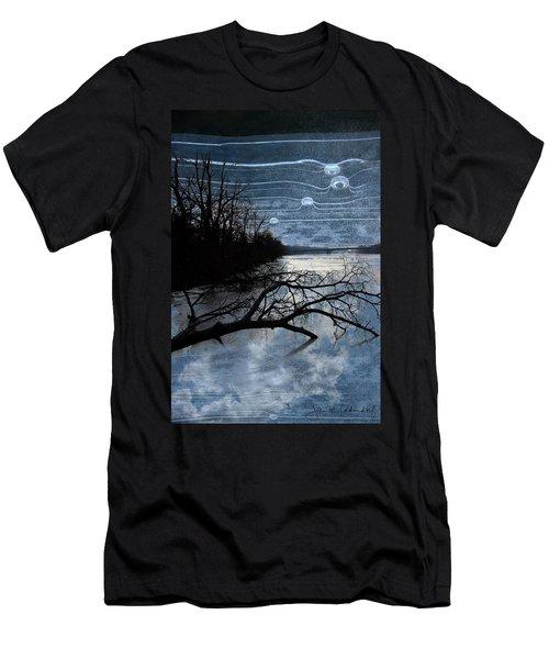 Moons Men's T-Shirt (Slim Fit) by Joan Ladendorf