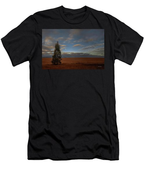 Moonset  In A Large Morning Sky Men's T-Shirt (Athletic Fit)