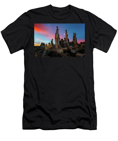 Moonset Over Mono Lake Men's T-Shirt (Athletic Fit)