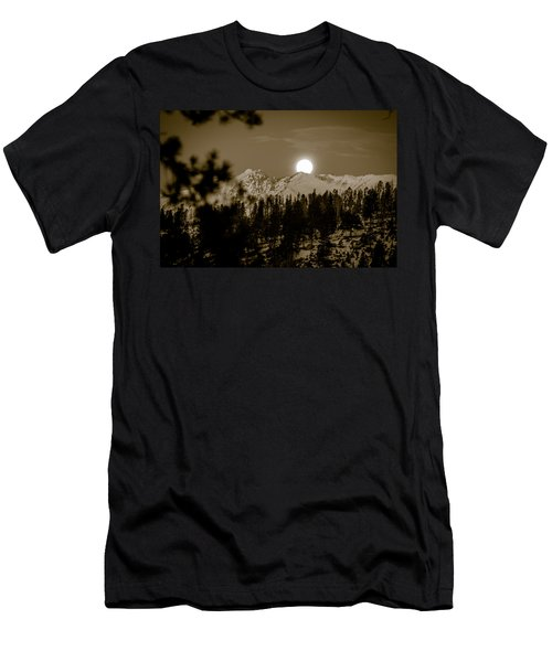 moonset over the Rockies Men's T-Shirt (Athletic Fit)
