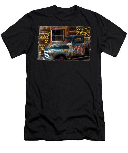 Moonshine Express Bordered Men's T-Shirt (Athletic Fit)