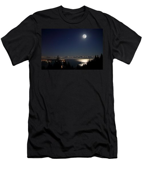 Moonshine Over English Bay Men's T-Shirt (Athletic Fit)
