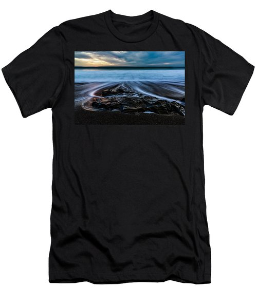 Moonstone Beach In The New Year Men's T-Shirt (Athletic Fit)