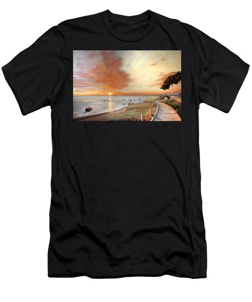Moonstone Cambria Sunset Men's T-Shirt (Athletic Fit)