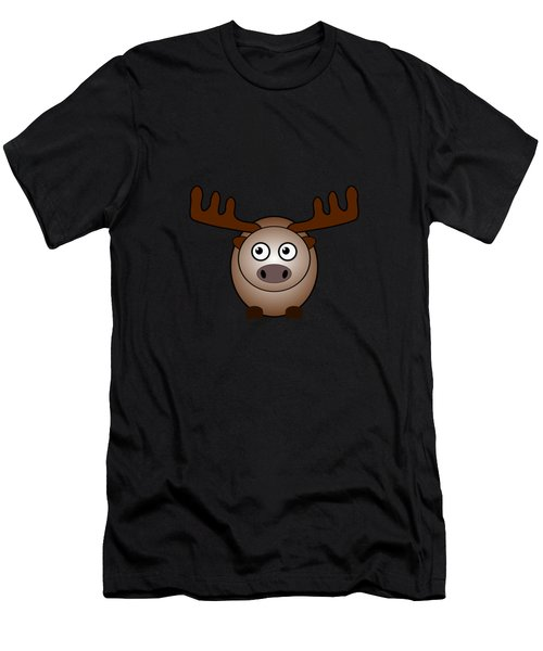 Moose - Animals - Art For Kids Men's T-Shirt (Athletic Fit)