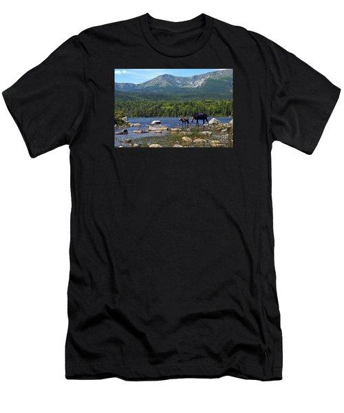 Moose Baxter State Park Maine 2 Men's T-Shirt (Athletic Fit)