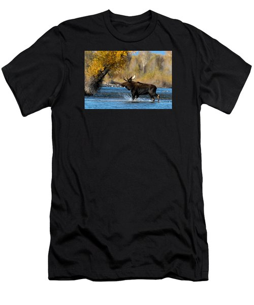 Moose Crossing Men's T-Shirt (Athletic Fit)