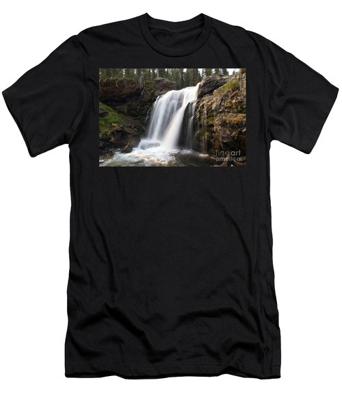 Moose Falls Yellowstone National Park Men's T-Shirt (Athletic Fit)