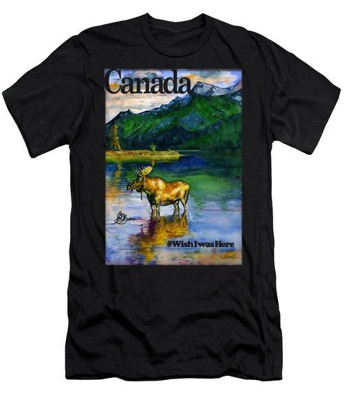 Moose In Canada Shirt Men's T-Shirt (Athletic Fit)