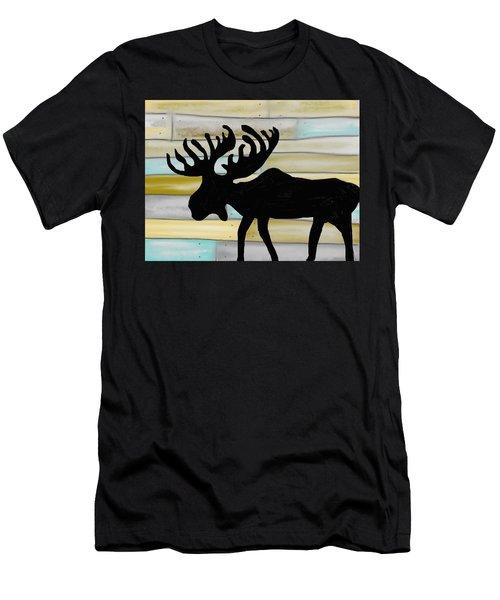 Men's T-Shirt (Slim Fit) featuring the digital art Moose by Paula Brown