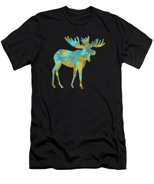 Moose Watercolor Art Men's T-Shirt (Athletic Fit)