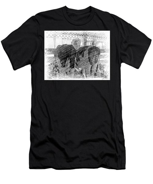 Moo...ving At The County Fair Men's T-Shirt (Athletic Fit)