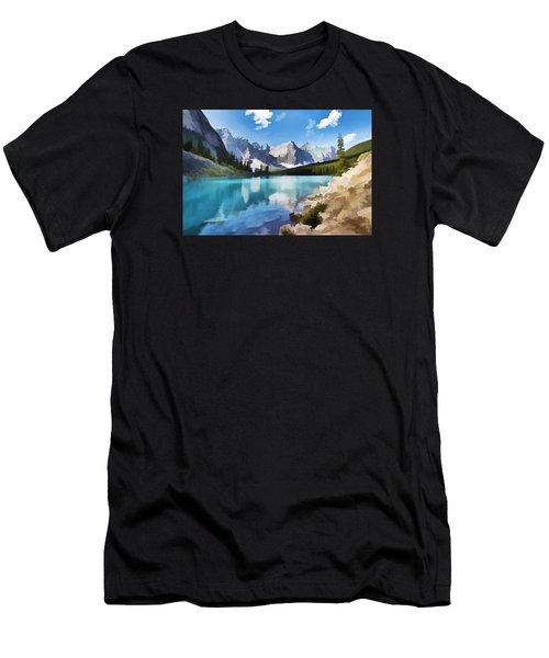 Moraine Lake At Banff National Park Men's T-Shirt (Athletic Fit)