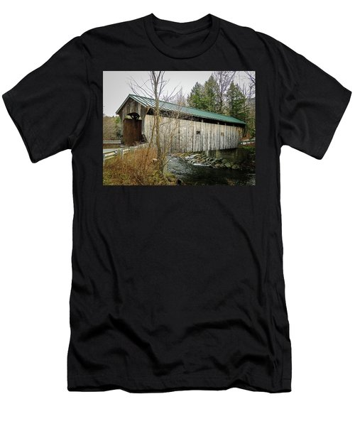 Morgan Covered Bridge Men's T-Shirt (Athletic Fit)