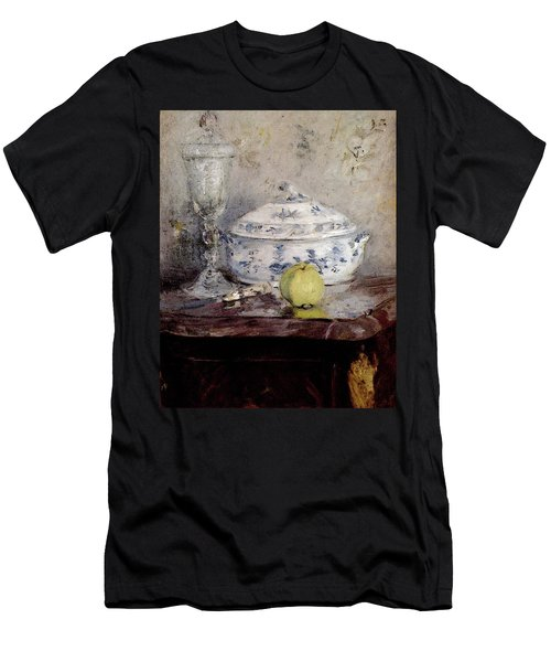 Morisot Berthe Tureen And Apple Men's T-Shirt (Slim Fit) by Berthe Morisot