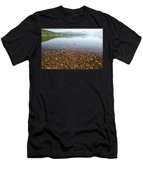 Morning At Lake Mcdonald Men's T-Shirt (Athletic Fit)