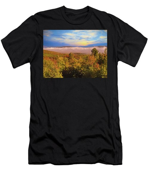 Morning Autumn Landscape Northern New Hampshire Men's T-Shirt (Athletic Fit)