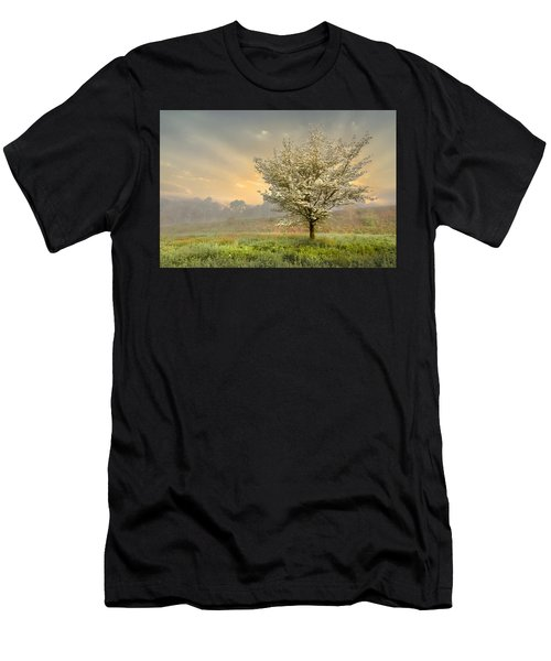 Men's T-Shirt (Athletic Fit) featuring the photograph Morning Celebration by Debra and Dave Vanderlaan