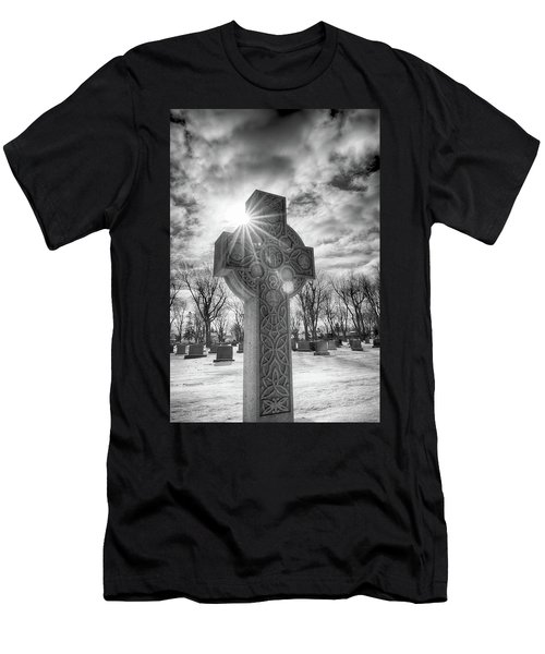 Men's T-Shirt (Athletic Fit) featuring the photograph Morning Cross by Guy Whiteley