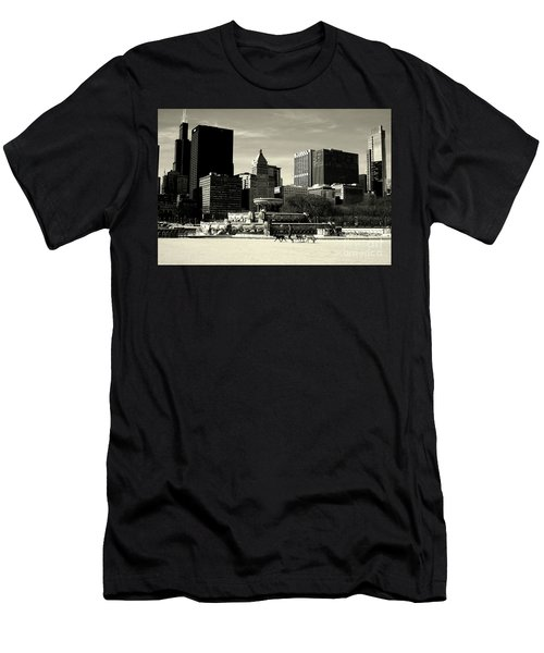 Morning Dog Walk - City Of Chicago Men's T-Shirt (Athletic Fit)